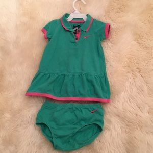 Baby girl Nike dress with diaper cover